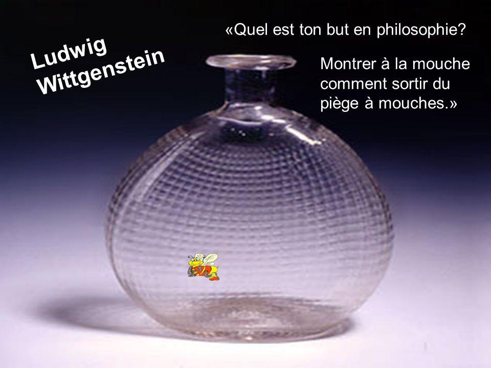 Ludwig Wittgenstein «Quel est ton but en philosophie