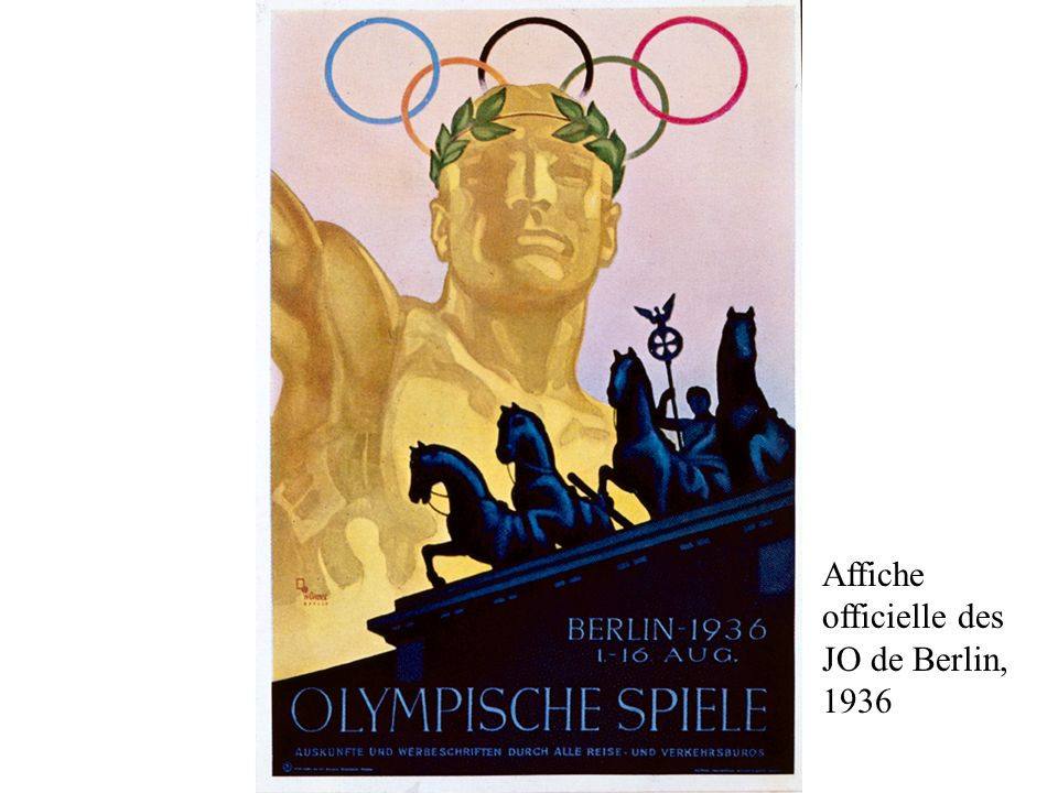 Affiche officielle des JO de Berlin, 1936