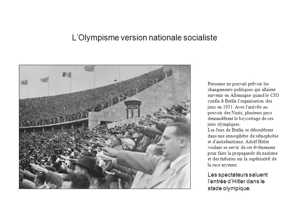 L'Olympisme version nationale socialiste