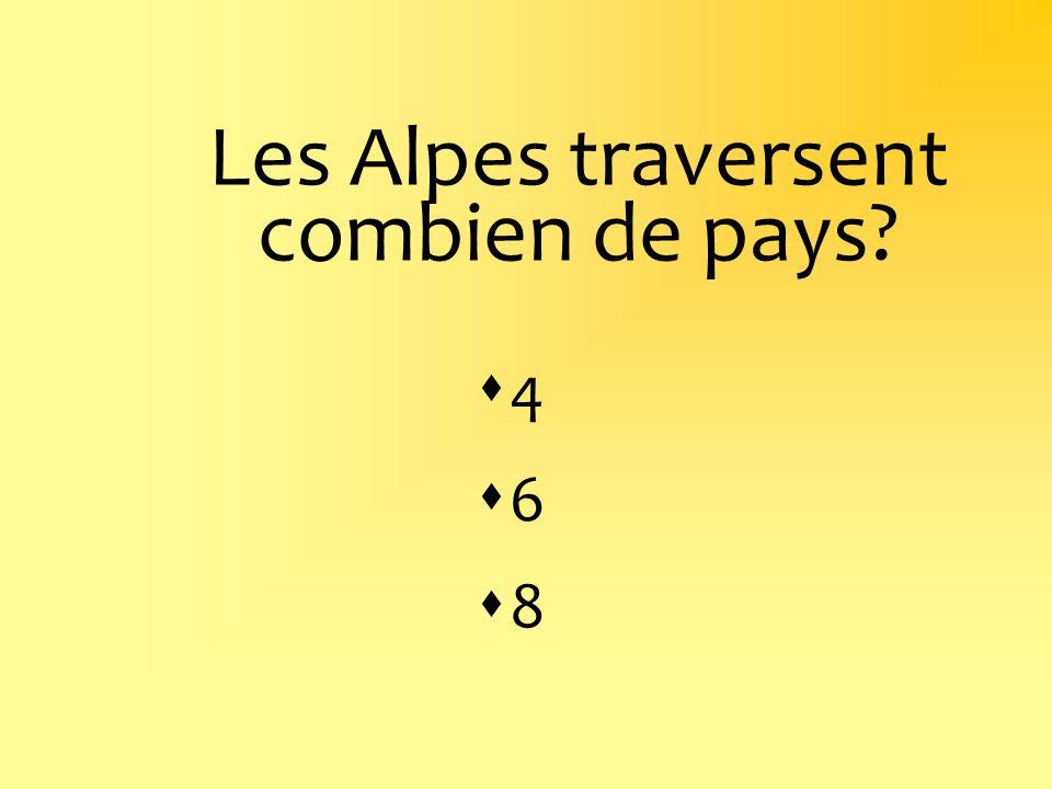 Les Alpes traversent combien de pays