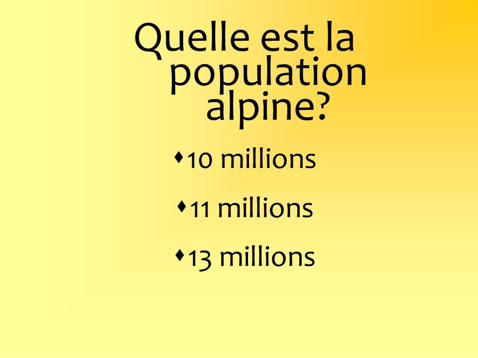 Quelle est la population alpine