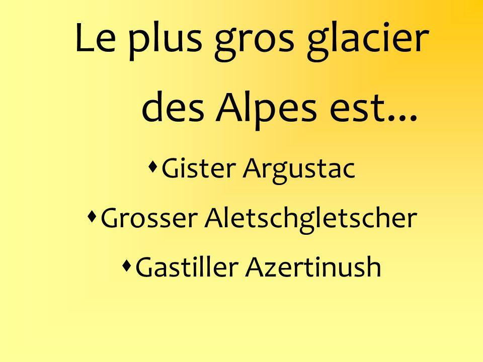 Le plus gros glacier des Alpes est...