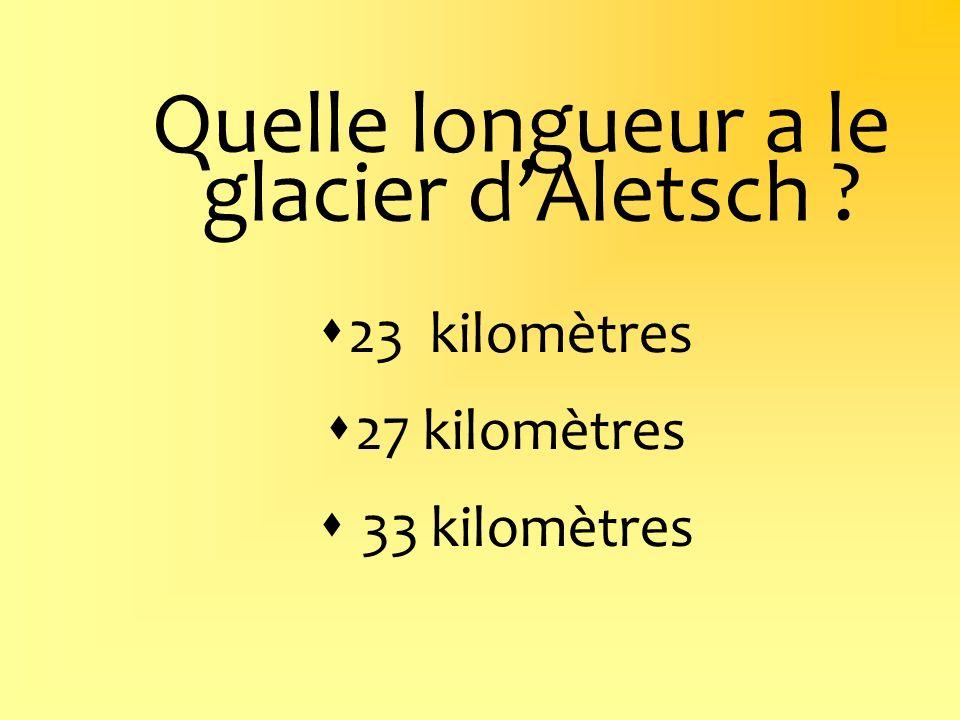 Quelle longueur a le glacier d'Aletsch