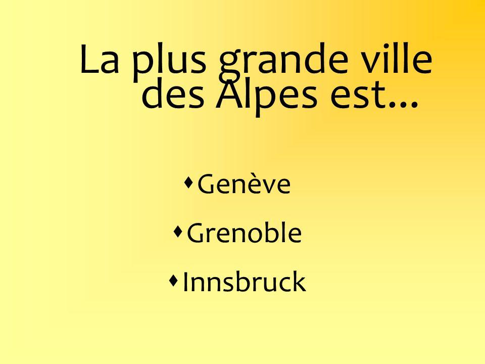 La plus grande ville des Alpes est...