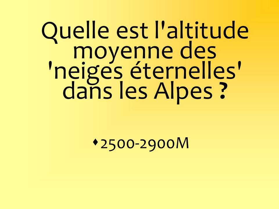 Quelle est l altitude moyenne des neiges éternelles dans les Alpes