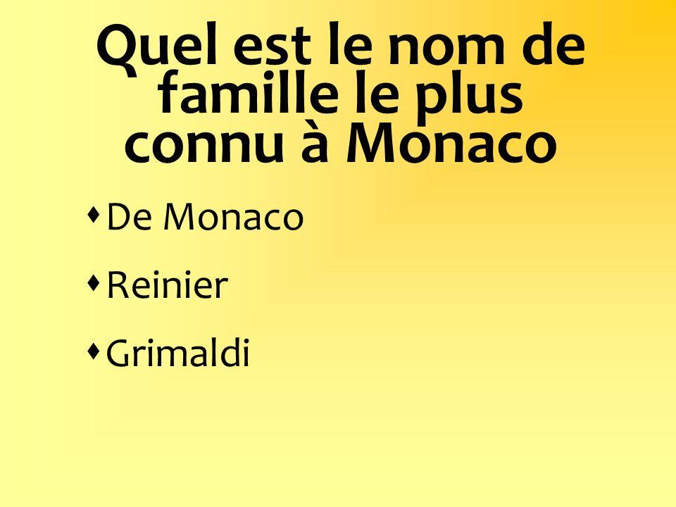 Quel est le nom de famille le plus connu à Monaco