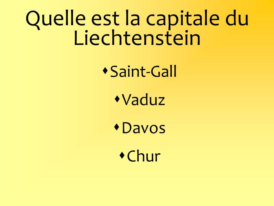Quelle est la capitale du Liechtenstein
