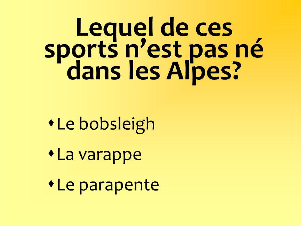 Lequel de ces sports n'est pas né dans les Alpes