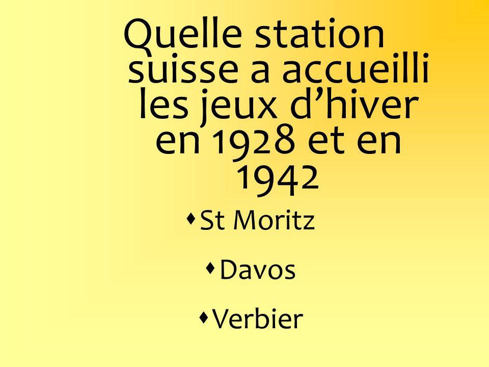 Quelle station suisse a accueilli les jeux d'hiver en 1928 et en 1942