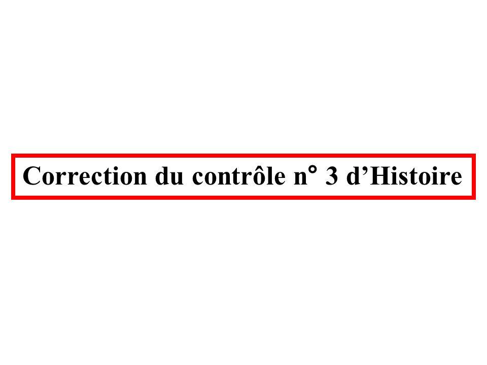 Correction du contrôle n° 3 d'Histoire