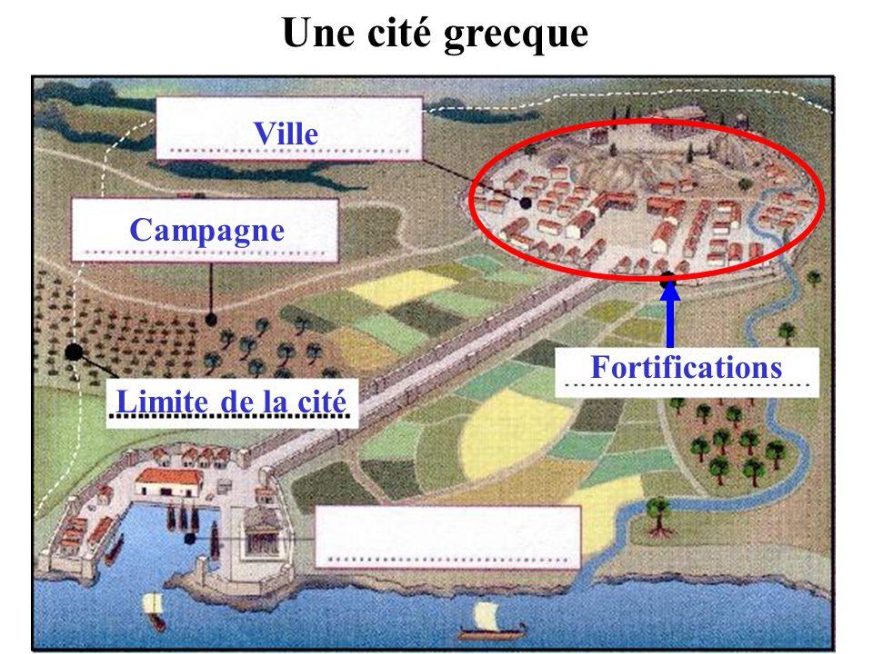 Une cité grecque Ville Campagne Fortifications Limite de la cité