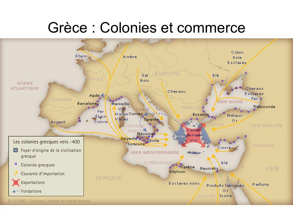 Grèce : Colonies et commerce