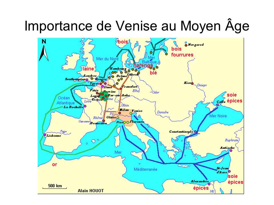 Importance de Venise au Moyen Âge