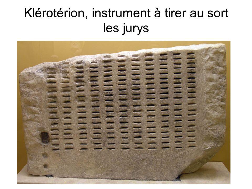 Klérotérion, instrument à tirer au sort les jurys