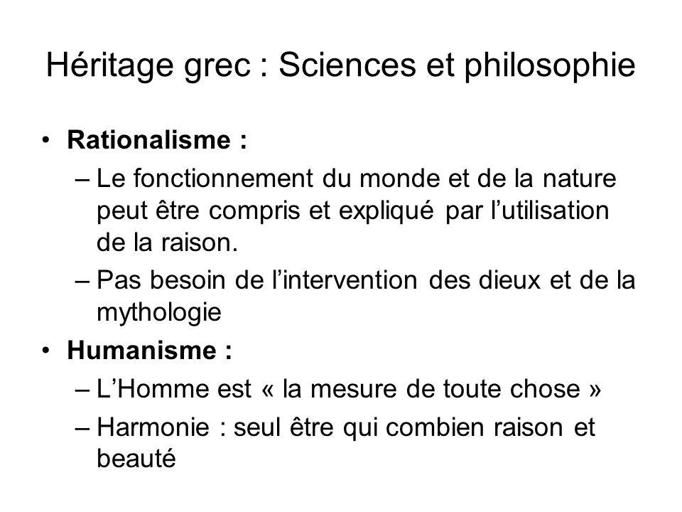 Héritage grec : Sciences et philosophie