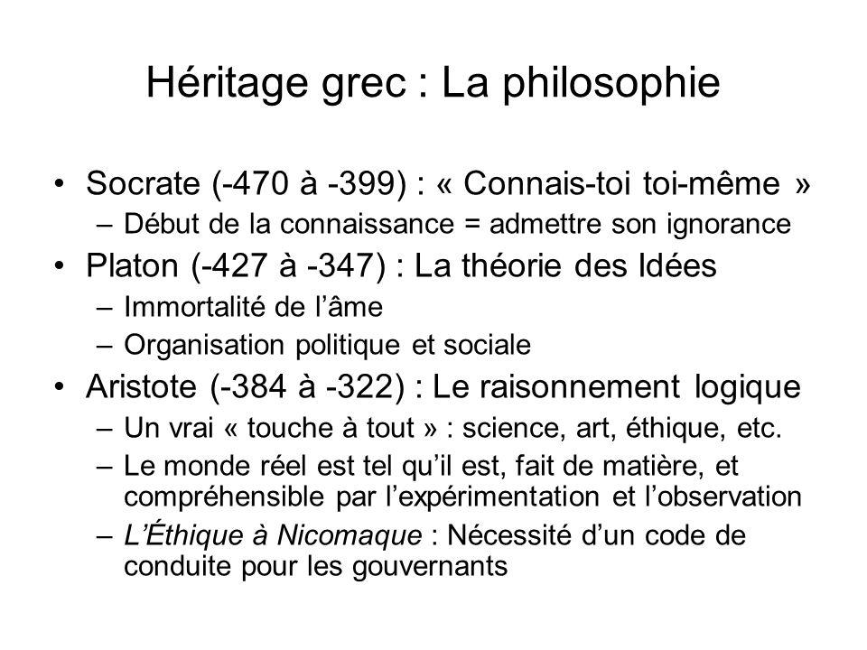 Héritage grec : La philosophie