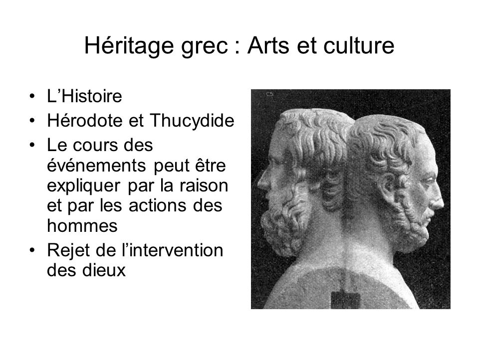 Héritage grec : Arts et culture