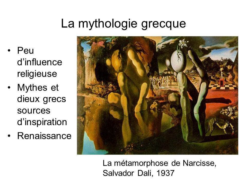 La mythologie grecque Peu d'influence religieuse