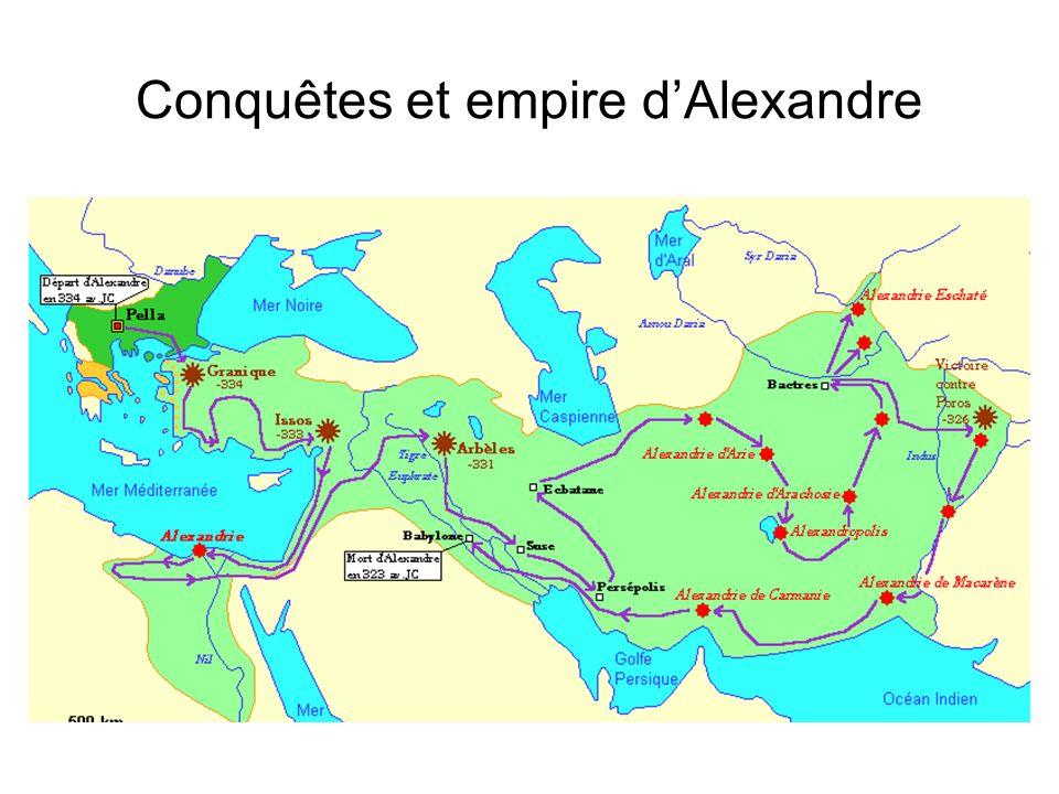 Conquêtes et empire d'Alexandre