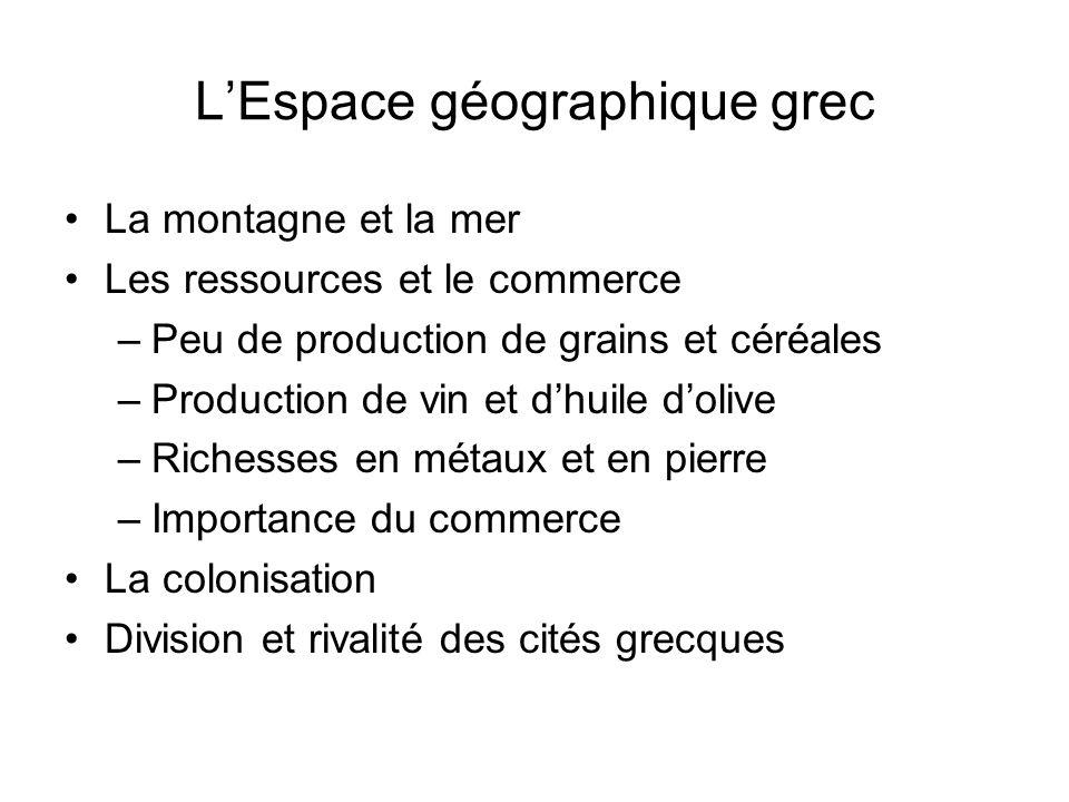 L'Espace géographique grec