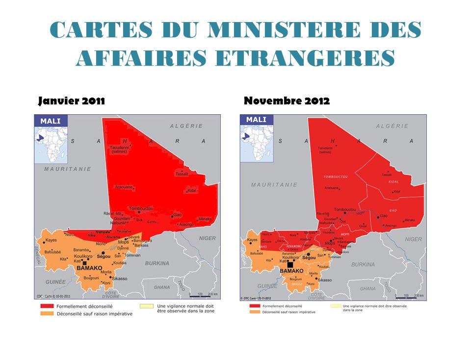 CARTES DU MINISTERE DES AFFAIRES ETRANGERES