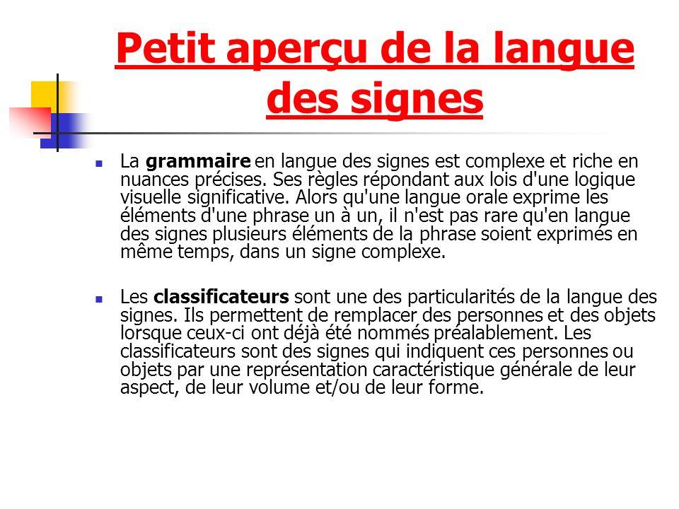 Petit aperçu de la langue des signes