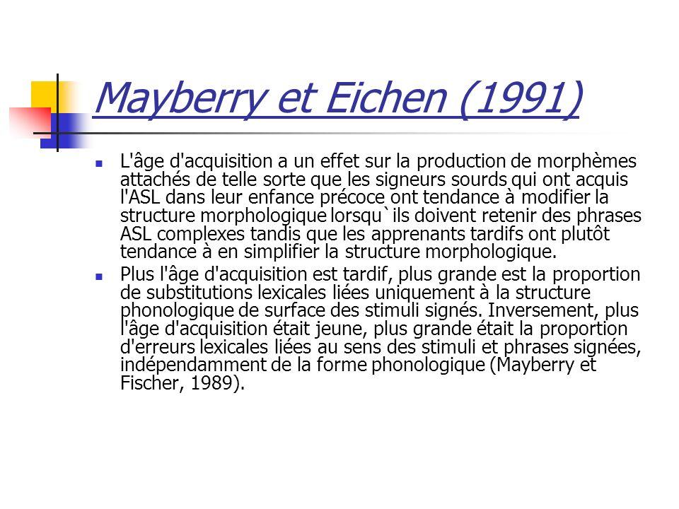 Mayberry et Eichen (1991)