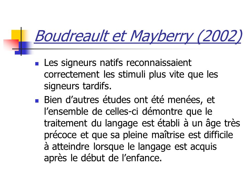 Boudreault et Mayberry (2002)