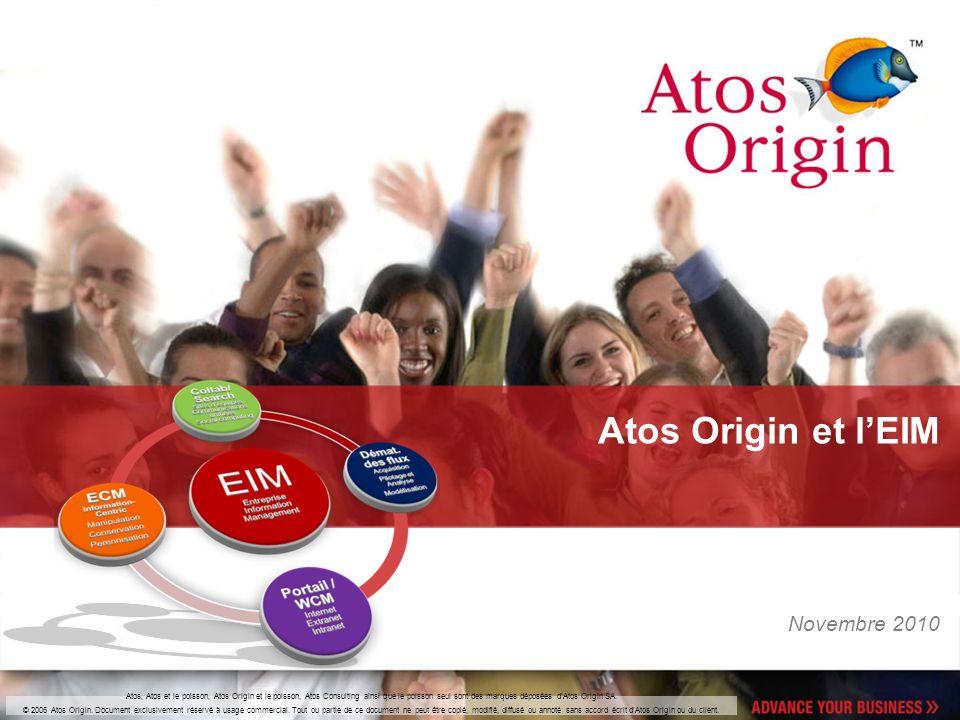 Atos Origin et l'EIM Novembre 2010
