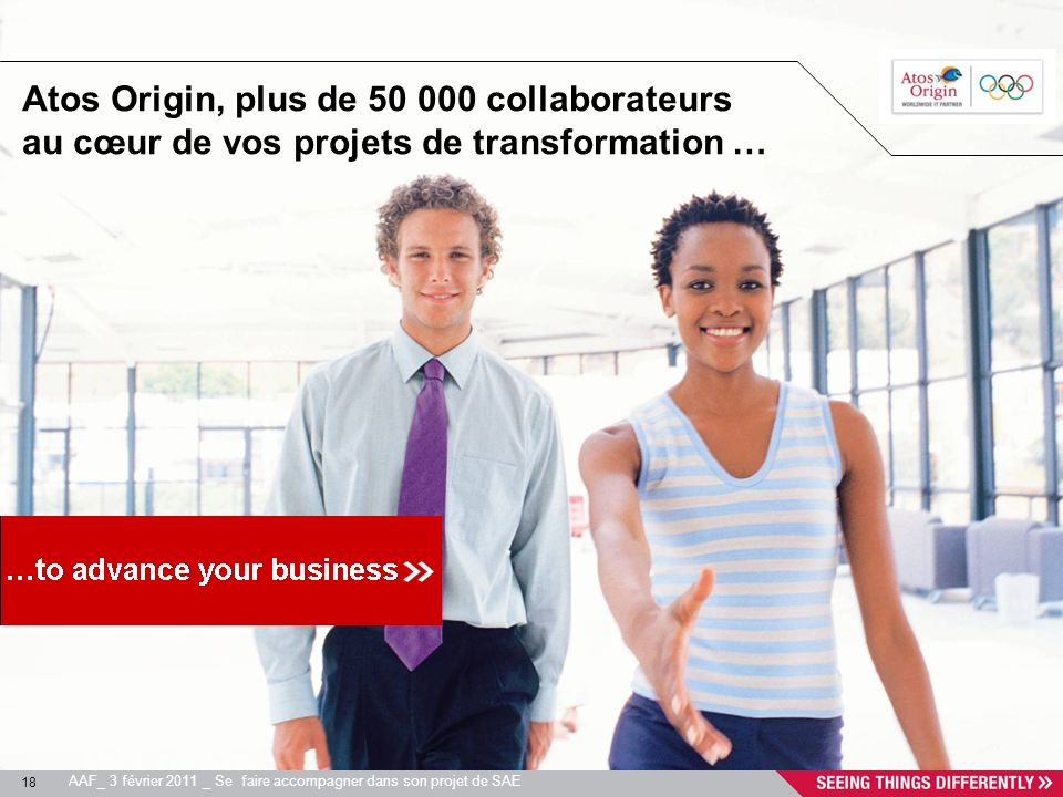 Atos Origin, plus de 50 000 collaborateurs au cœur de vos projets de transformation …