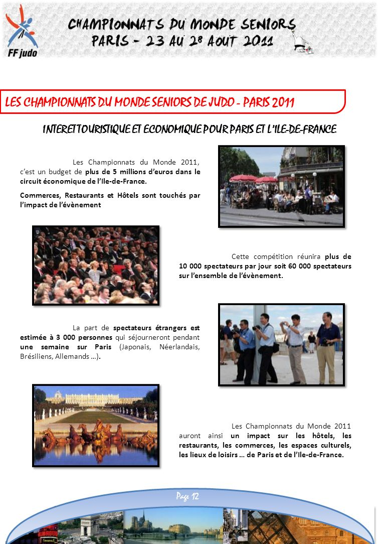 INTERET TOURISTIQUE ET ECONOMIQUE POUR PARIS ET L'ILE-DE-FRANCE