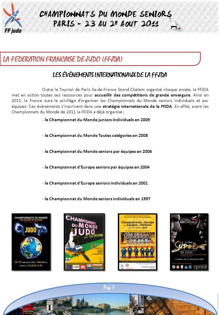 LES ÉVÈNEMENTS INTERNATIONAUX DE LA FFJDA