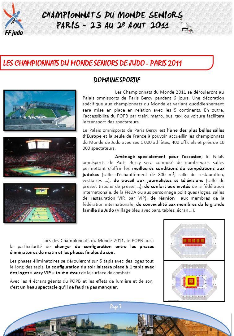 LES CHAMPIONNATS DU MONDE SENIORS DE JUDO - PARIS 2011