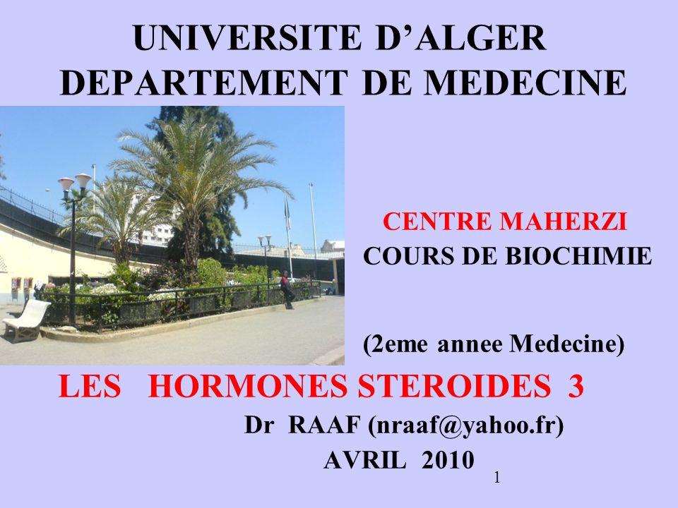 UNIVERSITE D'ALGER DEPARTEMENT DE MEDECINE
