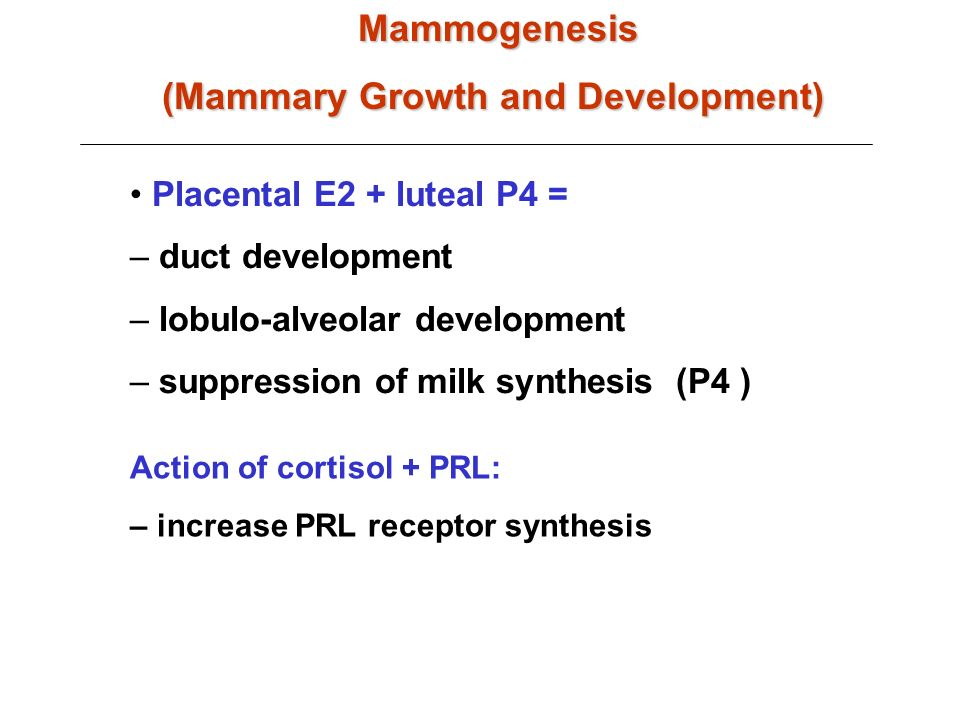 (Mammary Growth and Development)