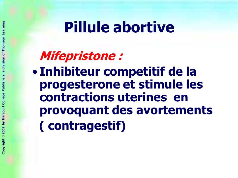 Pillule abortive Mifepristone :