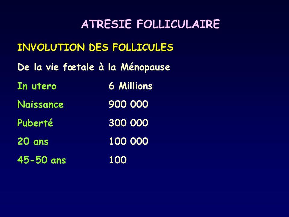 ATRESIE FOLLICULAIRE INVOLUTION DES FOLLICULES