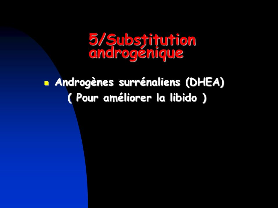 5/Substitution androgénique