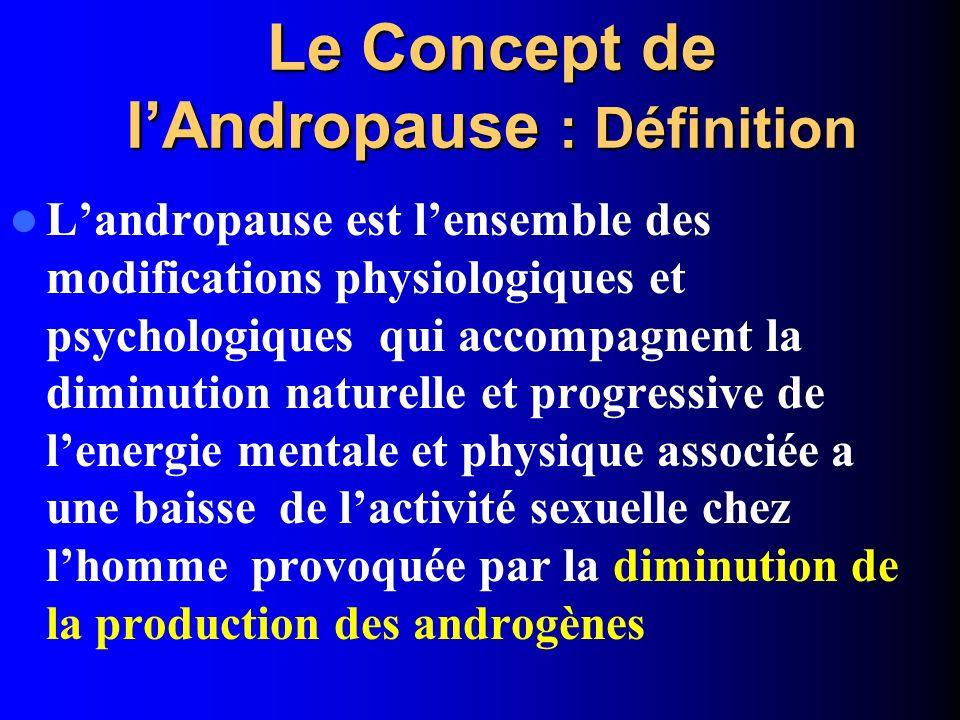 Le Concept de l'Andropause : Définition