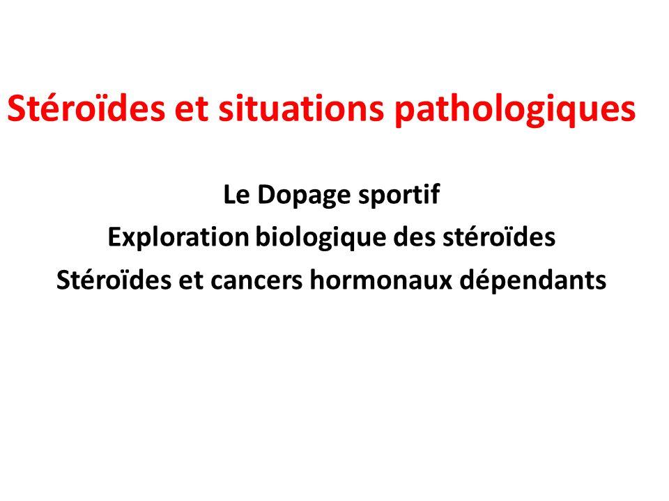 Stéroïdes et situations pathologiques