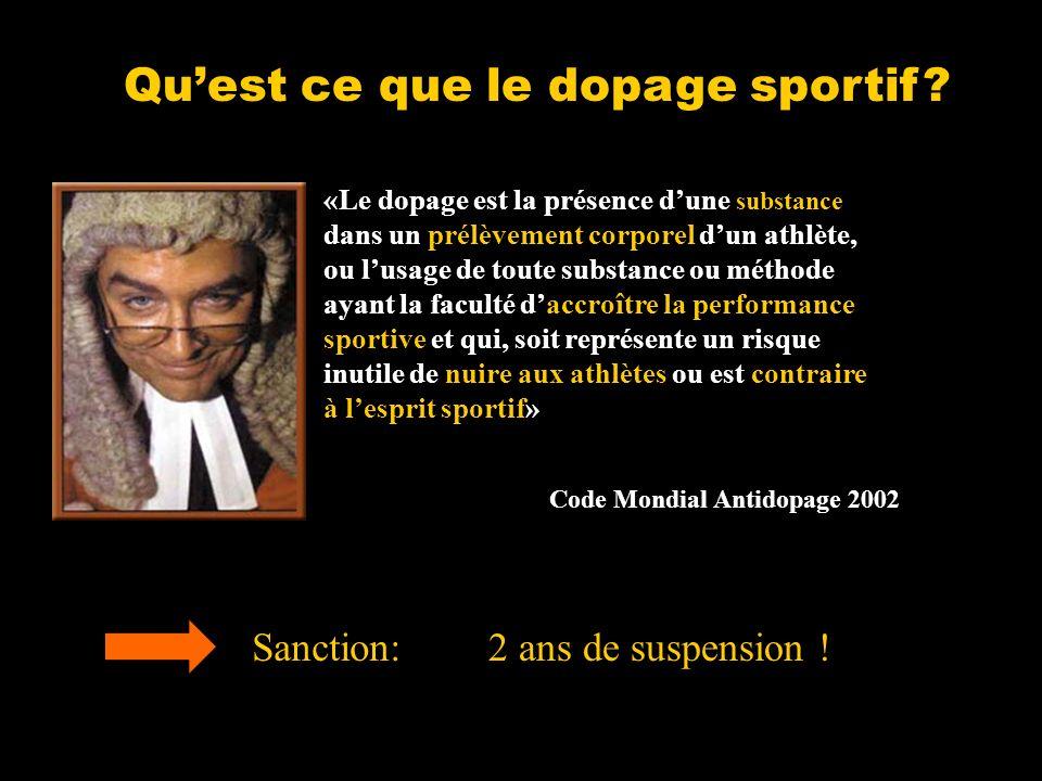 Qu'est ce que le dopage sportif