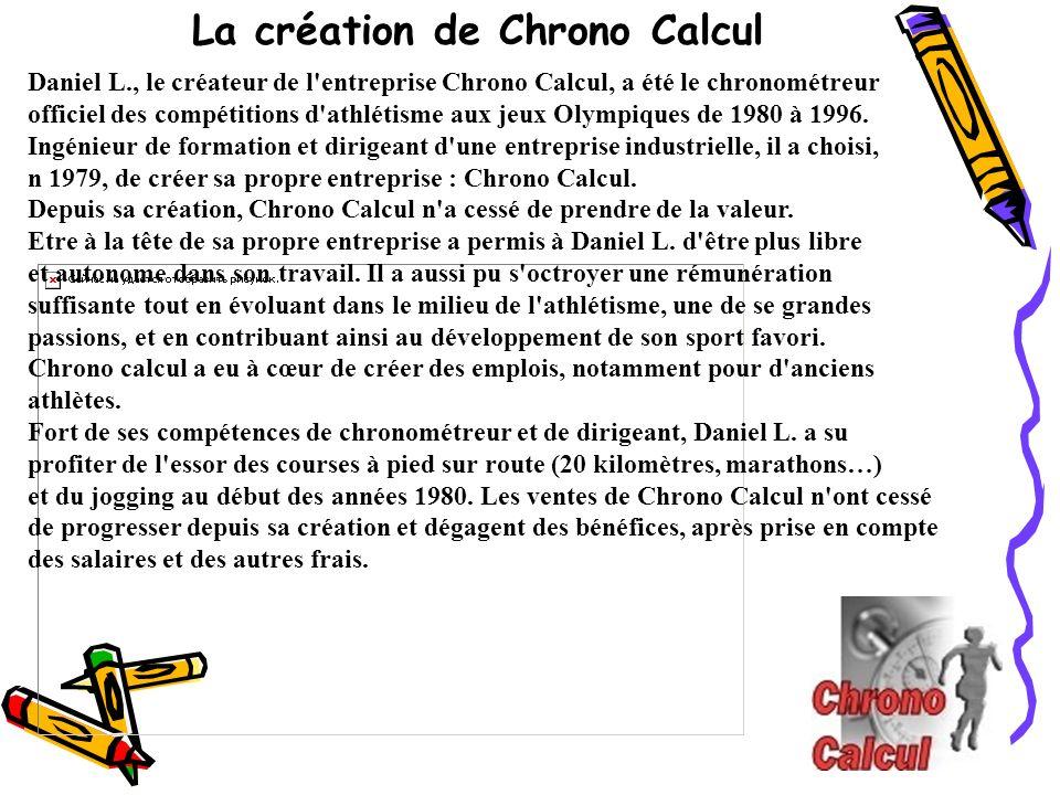 La création de Chrono Calcul