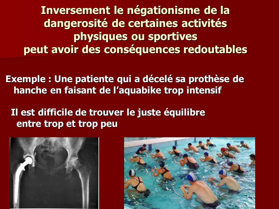 Inversement le négationisme de la dangerosité de certaines activités physiques ou sportives peut avoir des conséquences redoutables