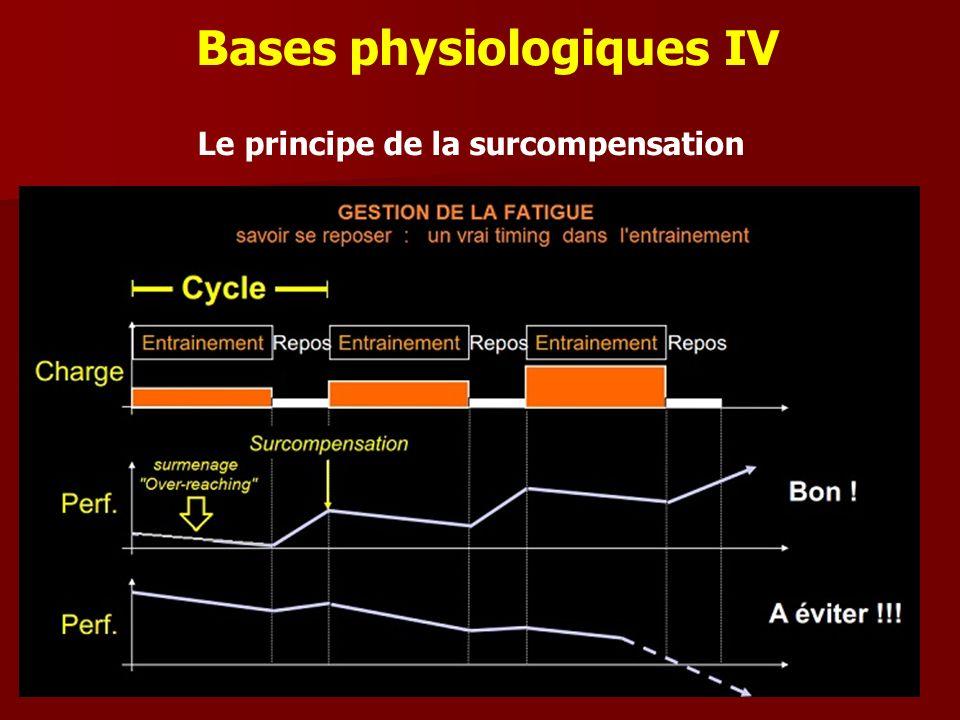 Bases physiologiques IV Le principe de la surcompensation