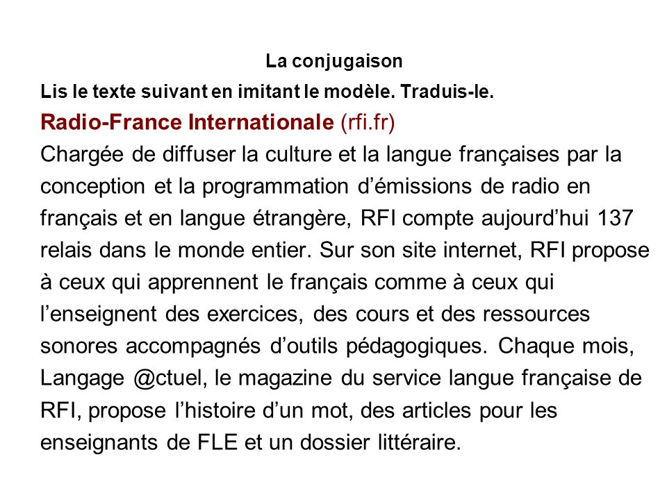 Radio-France Internationale (rfi.fr)
