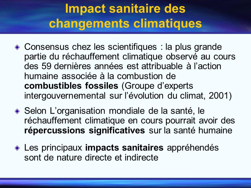 Impact sanitaire des changements climatiques