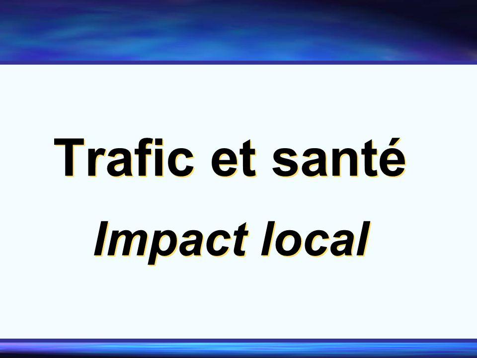 Trafic et santé Impact local