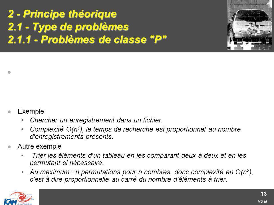 2 - Principe théorique 2. 1 - Type de problèmes 2. 1