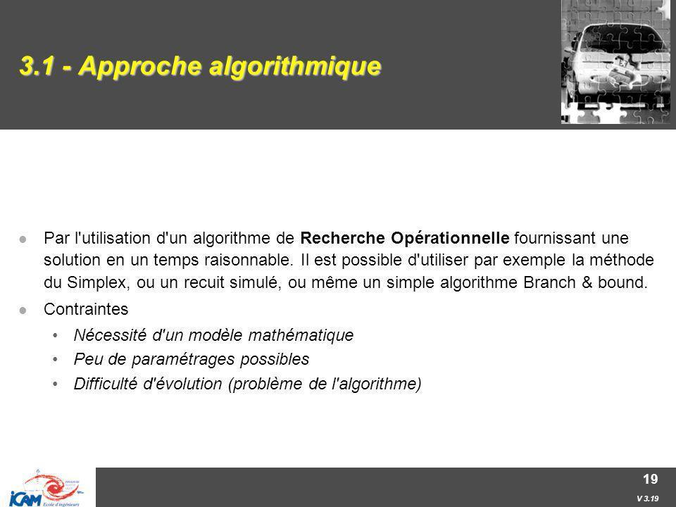 3.1 - Approche algorithmique