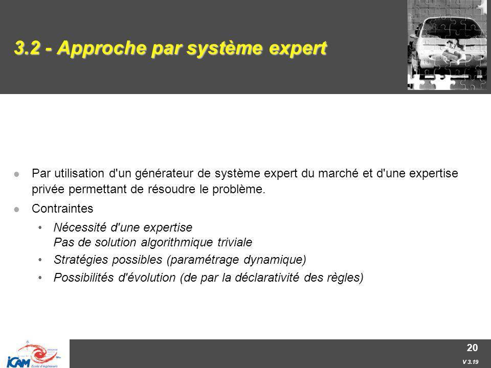 3.2 - Approche par système expert
